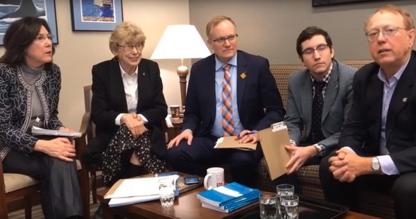 Cheryl Hardcastle, NDP Critic for Persons Living with Disabilities, meets with Lembi Buchanan, Director of Disability Tax Fairness and Member of Government's Disability Task Force.